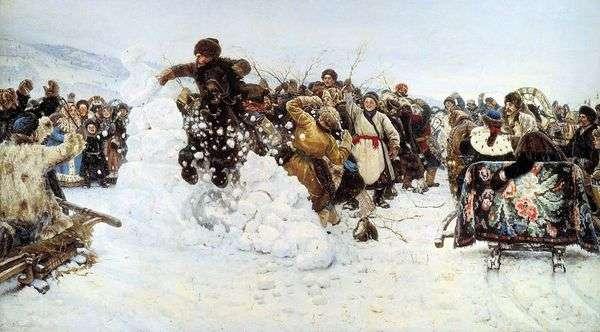 雪の町   Vasily Surikov