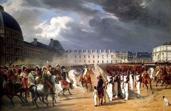パリのチュイルリー宮殿の前で警備員のパレードで無効な請願ナポレオン   ホレスヴェルネ