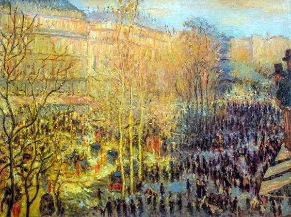 パリの大通りデカプチーヌ   クロードモネ