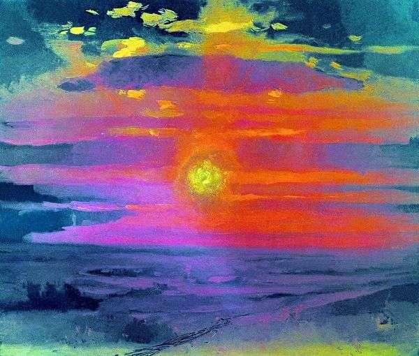 冬の夕日。海岸   Arkhip Kuindzhi