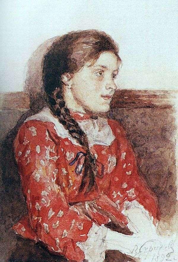 赤いセーターの女の子   Vasily Surikov