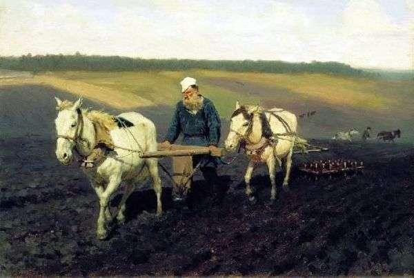 すき 耕地のレオ・トルストイ   Ilya Repin