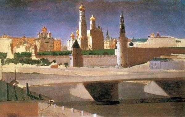 モスクワ Zamoskvorechye   Arkhip Kuindzhiからのクレムリンの眺め