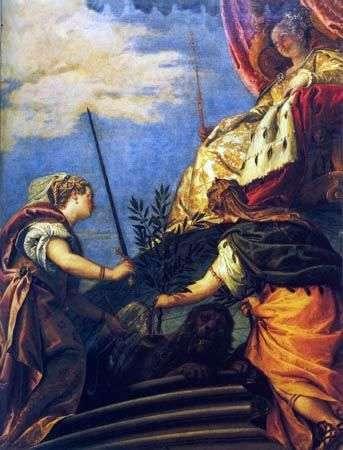ヴェネツィア   正義と平和の像をもつ主権   パオロ・ヴェロネーゼ