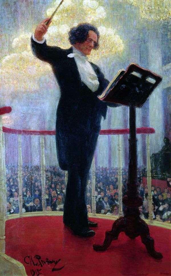 Anton Grigorievich Rubenstein   Ilya Repinの肖像画