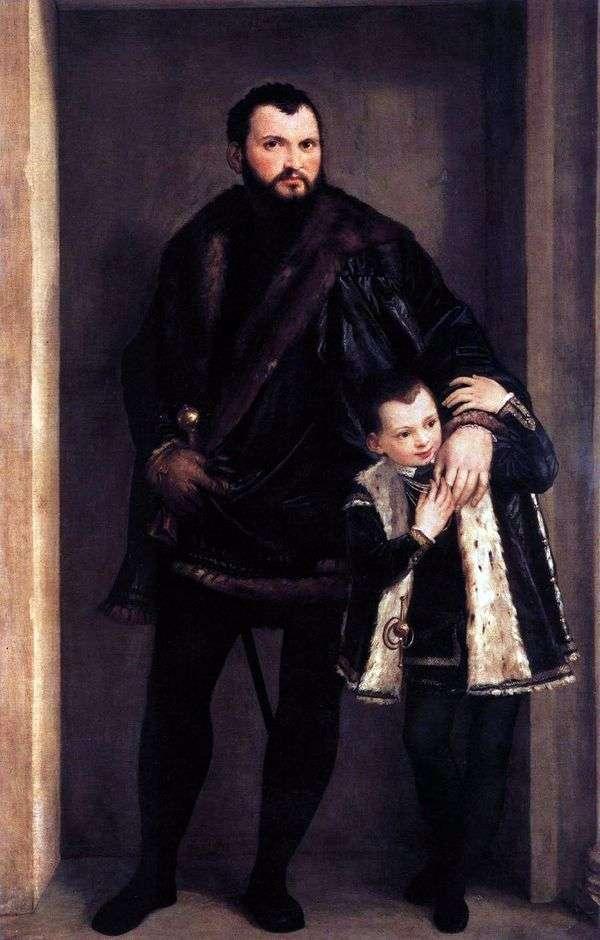 彼の息子Adriano   Paolo Veroneseとポルトデコンテ