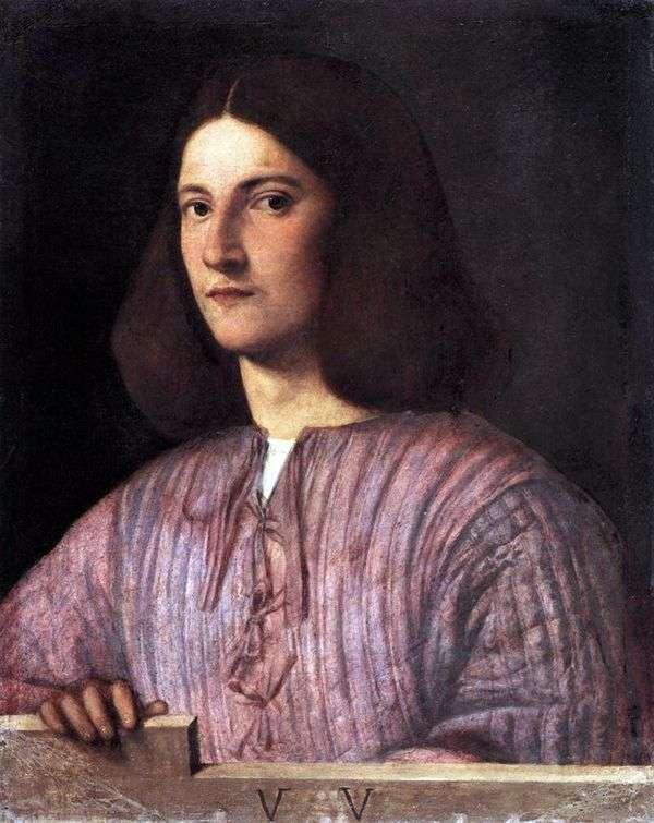 若い男の肖像   ジョルジョーネ