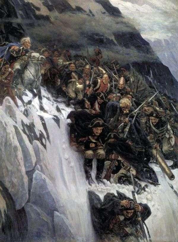 アルプスを渡るスボーロフ   ヴァシリー・スリコフ
