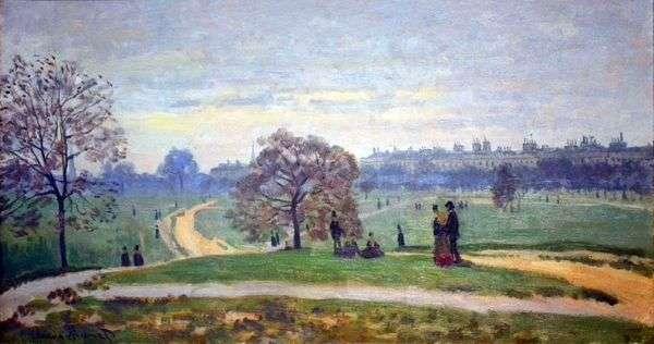 ロンドン、ハイドパーク   Claude Monet