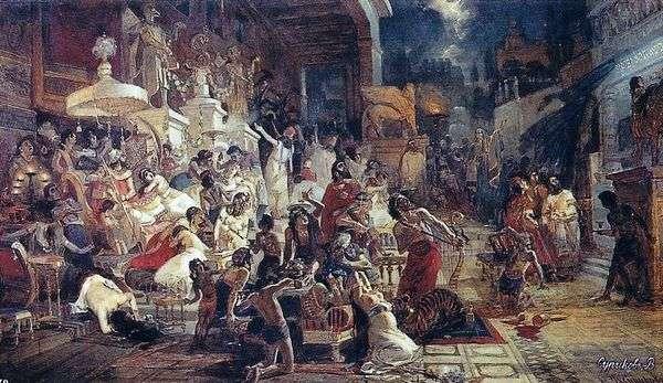 ヴァルタサルの饗宴   ヴァシリー・スリコフ