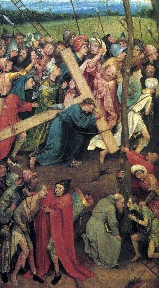 カルバリーで十字架を背負って   Hieronymus Bosch