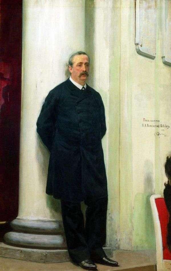 作曲家および化学者Alexander Borodin Porfirievich   Ilya Repinの肖像