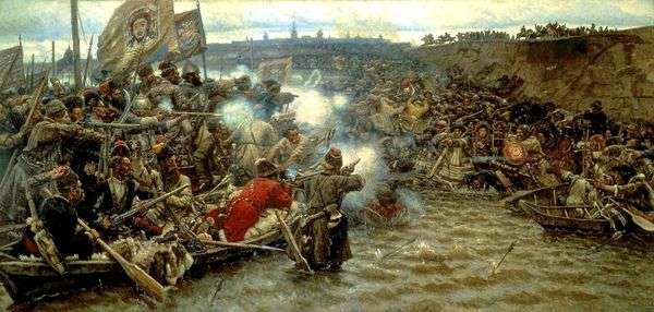 Yermak   Vasily Surikovによるシベリアの征服