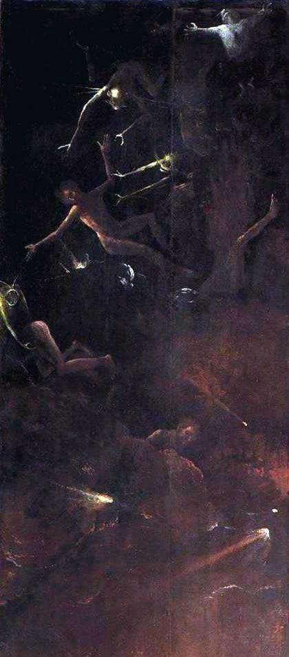 罪人の転覆、暗黒街のビジョン   Hieronymus Bosch