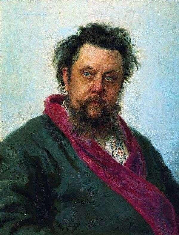 作曲家M. P. Mussorgsky   イリヤ・レーピンの肖像