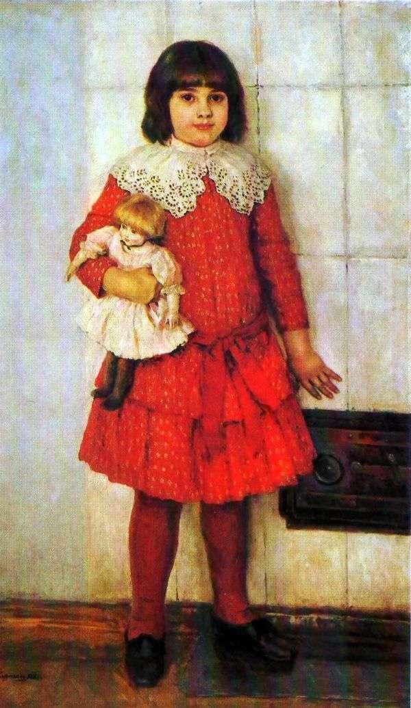幼少期   ヴァシリー・スリコフのオリヤの娘の肖像画