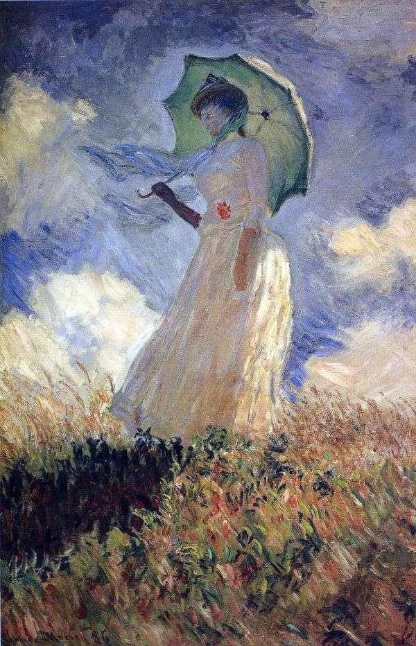傘を持つ女性   クロード・モネ