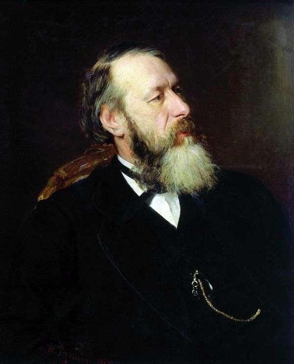 評論家の肖像V. V. Stasov   I. E. Repin