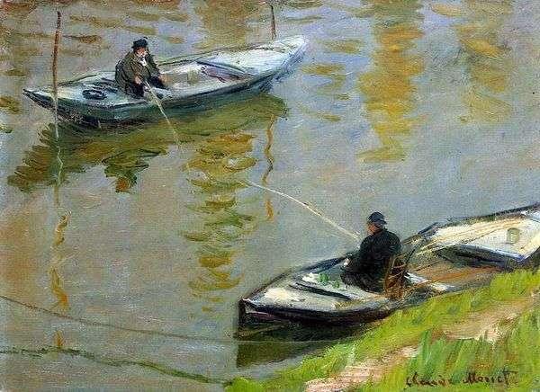 二人の釣り人   クロード・モネ