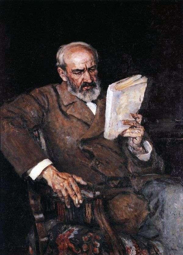 A. E. Yezersky博士の肖像   ヴァシリー・スリコフ