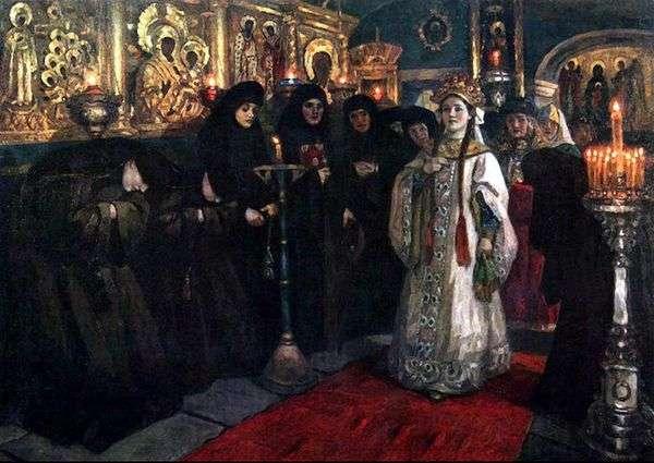 ツァレヴナ修道院を訪問   ヴァシリー・スリコフ