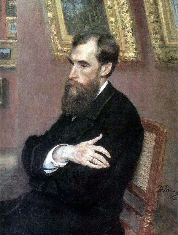 P. M. Tretyakov   イリヤ・レーピンの肖像