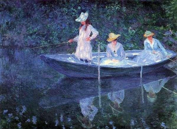 ボートの中の女の子   クロード・モネ
