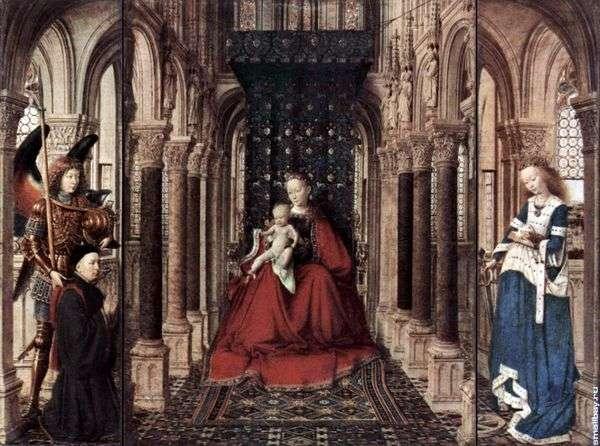 聖母マリアの祭壇   Jan van Eyck