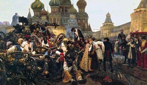 朝Streltsyペナルティ   Vasily Surikov