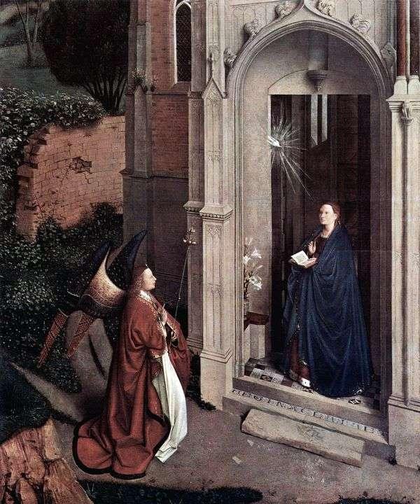 教会の受胎告知   Jan van Eyck