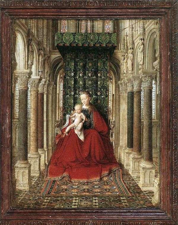 寺院   Jan van Eyckの王位にある聖母子
