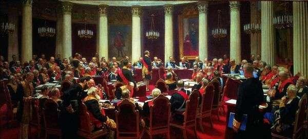 1901年5月7日の国務院の儀式会議   イリヤ・レーピン