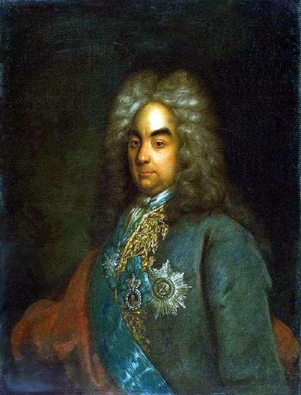 カウントピーターAndreevichトルストイの肖像   ヨハンゴットフリッドタナウアー