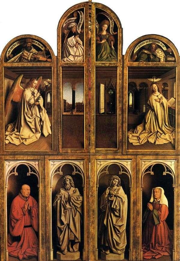 閉鎖状態の紳士祭壇   Jan van Eyck