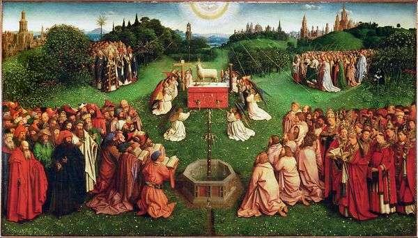 ゲント祭壇の子羊崇拝   Jan van Eyck