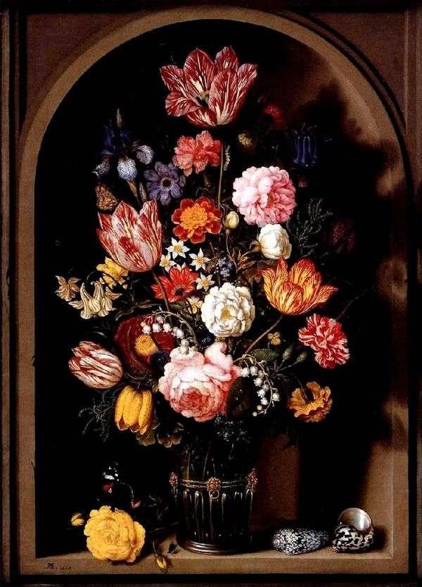 花瓶の花の花束   Ambrosius Boshart