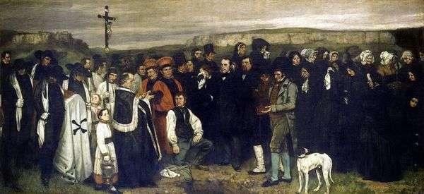 オルナンの葬儀   ギュスターヴ・クールベ