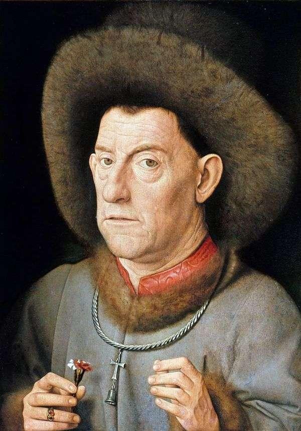 クローブを持つ男   Jan van Eyck