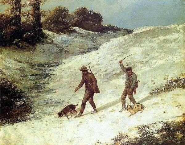 狩猟シーン   Jean Desire Gustave Courbet
