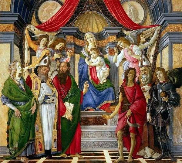 Stsの祭壇。バルナバ   サンドロ・ボッティチェリ