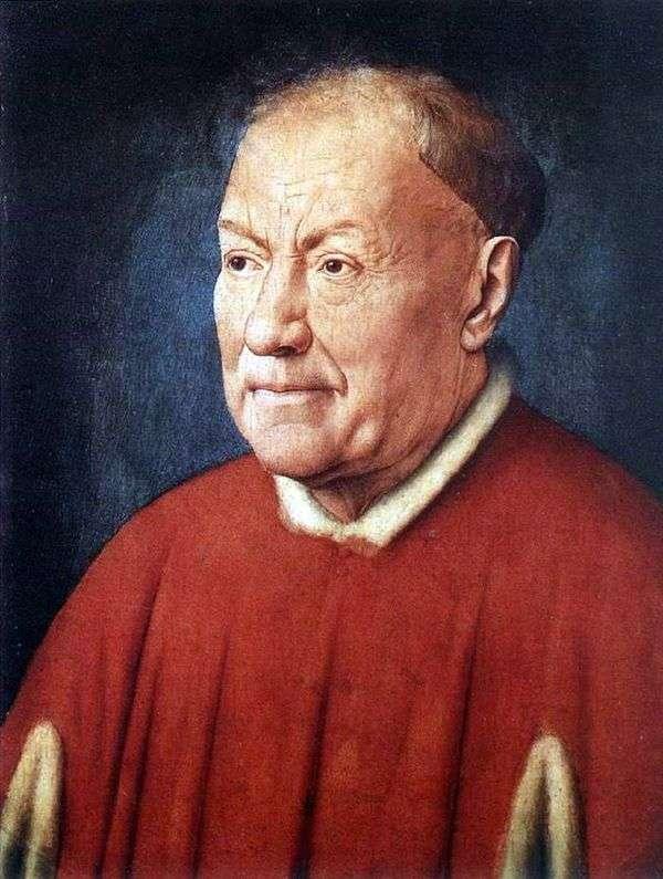 枢機卿NiccolòAlbergati   Jan van Eyckの肖像