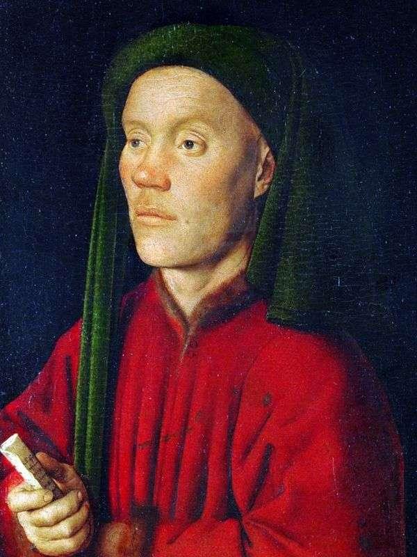 若い男(Timofey)の肖像   Jan van Eyck