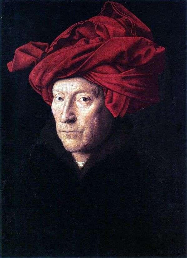 赤いターバン   Jan van Eyckの男の肖像