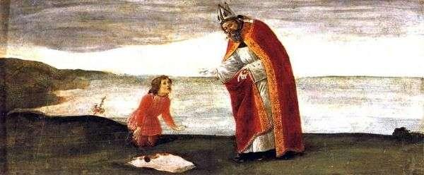 セントオーガスティンのビジョン   Sandro Botticelli