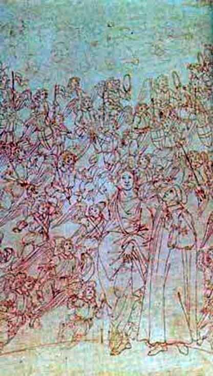 ダンテとベアトリス、 『神の喜劇』より   Sandro Botticelli