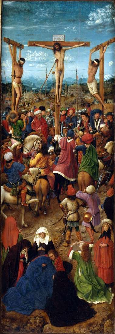 はりつけ Diptych 左シャッター   Jan van Eyck