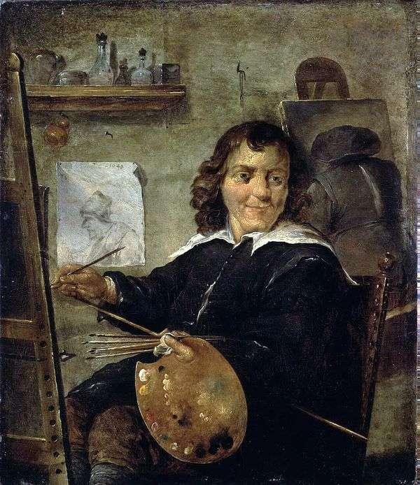 彼のスタジオの画家   David Teniers