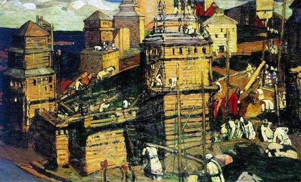 都市は建設中です   Nicholas Roerich