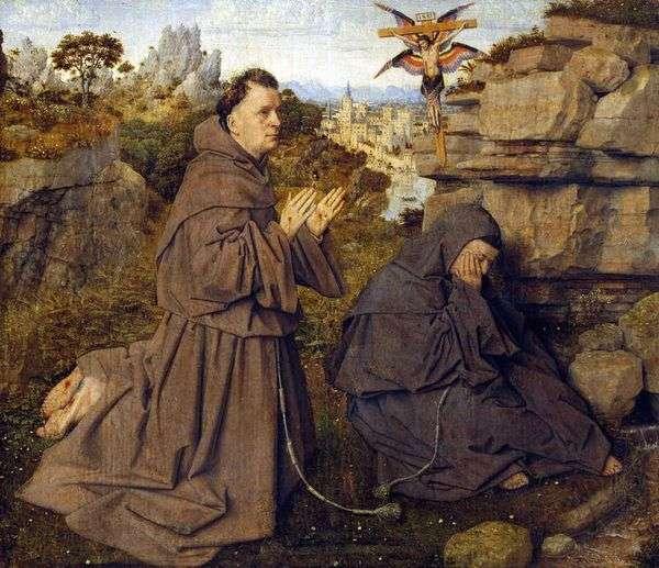 聖フランシスコのスティグマ化   Jan van Eyck