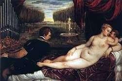 オルガニストとキューピッドの金星   Titian Vecellio